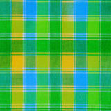 Texture of green plaid fabric Stock Photography