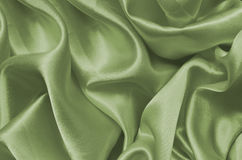 Texture green satin, silk background Stock Photo