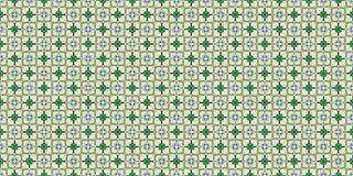 Texture of green squares with petals. Kaleidoscopic orient popular style Royalty Free Stock Photo