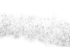 Texture grenue noire d'isolement sur le blanc Image stock