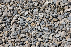 Texture grey color of the crushed granite and limestone coarse g Royalty Free Stock Images