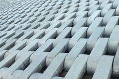 Texture from grey concrete bricks. Stock Photos