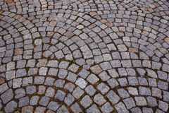 Texture  grey stone pavement Royalty Free Stock Photo