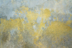 Texture of grey wall. Texture of grey and yellow paint cement wall Royalty Free Stock Image