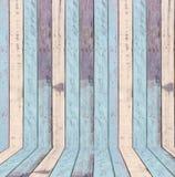 Texture grise blanche bleue en bois de couleur Images libres de droits