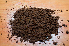 The texture of the ground coffee Stock Photos