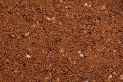 Texture of the ground coffee Royalty Free Stock Photography