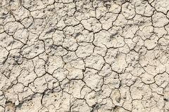 The texture of the ground with cracks Royalty Free Stock Image
