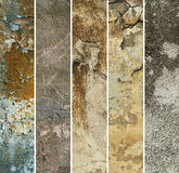 Texture grunge collection Royalty Free Stock Photos