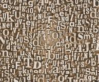 Texture grunge de lettre Images stock