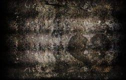 Texture grunge de mur de ciment pour le fond abstrait de coeur Images libres de droits