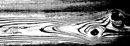 Texture grunge en bois Fond d'isolement en bois naturel Illustration de vecteur Image libre de droits