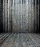 texture grunge en métal 3d, intérieur vide Photographie stock libre de droits