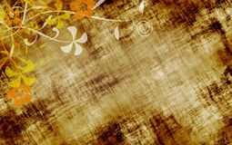 Texture grunge florale illustration stock