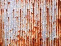 Texture grunge galvanisée par zinc en métal images stock
