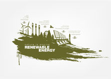 Texture grunge Renewable energy Stock Image