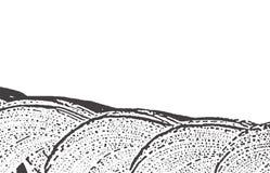 Texture grunge Trace approximative grise noire de détresse Fond adorable Texture grunge sale de bruit Gl Illustration Libre de Droits
