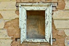 Texture grunge vide de fond de châssis de fenêtre Photo libre de droits