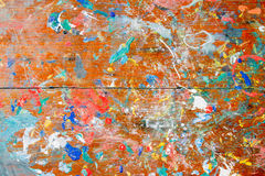 Texture of grungy table for painting Stock Images