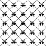Texture with hand drawn floral arrows. Elegant seamless pattern and vector background design. Stock Photography