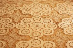 Texture of embroidered bedspreads royalty free stock photos