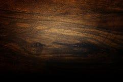 Texture handbrushed par amande foncée Fond en bois cru naturel Images libres de droits