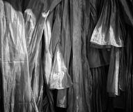 Texture of handmade Thai silk and cotton,black and white Royalty Free Stock Photography