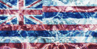 Texture of a flag of Hawaii royalty free illustration