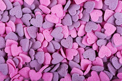 Texture of heart shaped candies Royalty Free Stock Photo