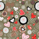 texture of the hearts Royalty Free Stock Image