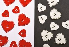 Texture with hearts close up. Traditional attributes of valentines day. Be my valentine. Lovely background. Decoration. Heart background. Love symbol valentines royalty free stock image