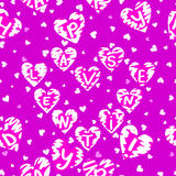 Texture of hearts Stock Photography