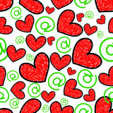 Texture of hearts Stock Photo