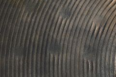 Texture of heavily used bronze hand hammered hihat cymbal Royalty Free Stock Photos