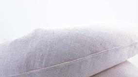 Hemp fabric cushions stock video
