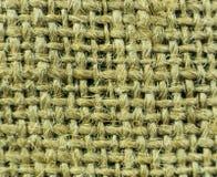Texture of hemp fabric up close Royalty Free Stock Photography