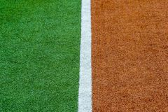 Texture of the herb cover sports field. Used in tennis, golf, baseball, field hockey, football, cricket, rugby. stock image