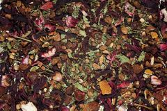 Texture of herbal tea Royalty Free Stock Image