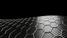 Texture hexagonale de fibre de carbone Photo stock