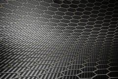 Texture hexagonale de fibre de carbone Photographie stock