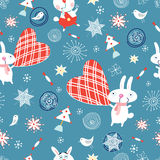 Texture holidays rabbits Royalty Free Stock Photo
