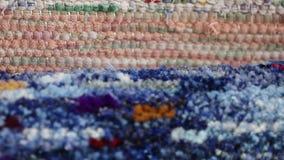 Texture of homespun fabrics stock video