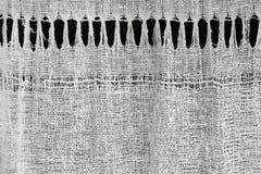 Texture of homespun linen cloth Stock Image