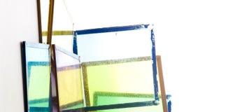 texture horizontal de las tarjetas del pino nudoso Vidrios coloreados Imágenes de archivo libres de regalías