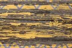 Texture horizontale de grange de parquet en bois jaune de mur Fond vide minable rustique de vieilles lamelles en bois Brown épluc photographie stock