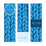 Texture horizontale de tissu de sewater de knit de vecteur Photos libres de droits