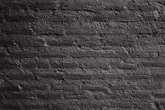 Texture horizontale du mur de briques noir photos libres de droits