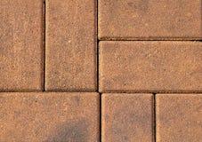 Texture horizontale du sentier piéton de brique de Brown photographie stock