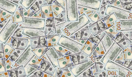 Texture of hundred dollar banknotes. New one hundred dollar bill, both sides of banknotes Stock Photography