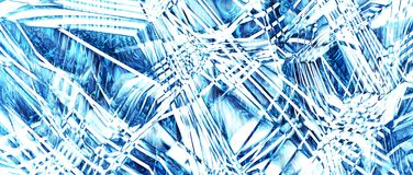 Texture of ice, abstraction. Option 2. 3D rendering. stock illustration